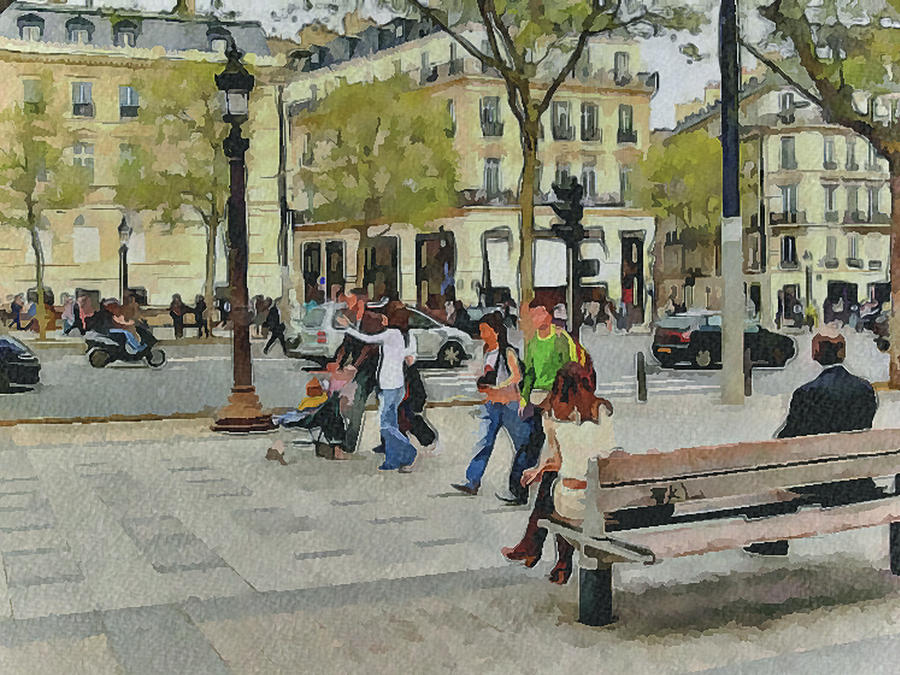 Paris Digital Art - Paris Streets 4 by Yury Malkov