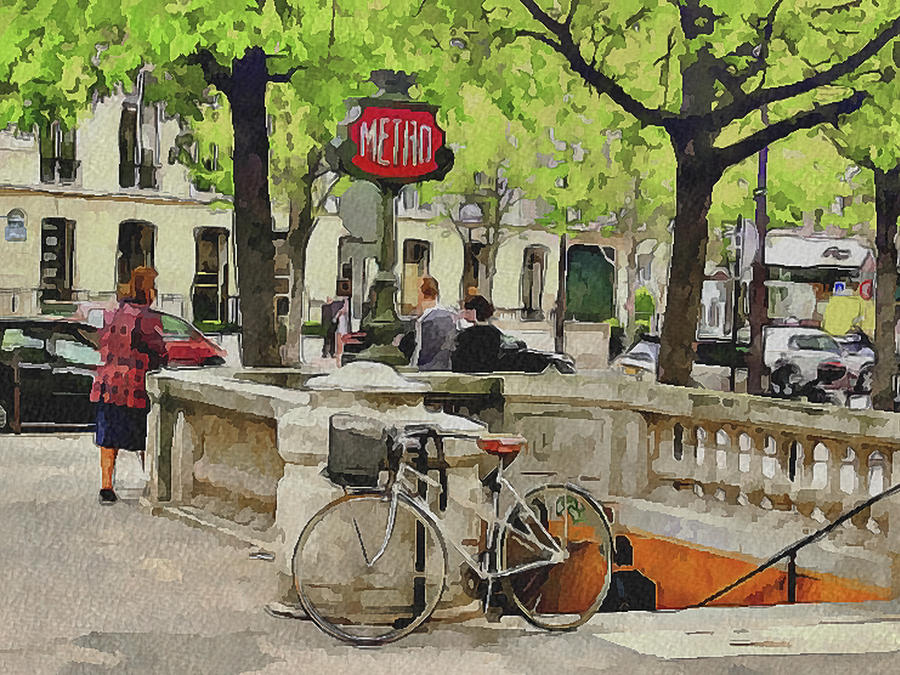 Paris Digital Art - Paris Streets 5 by Yury Malkov
