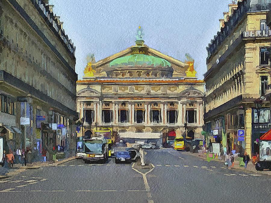 Paris Digital Art - Paris Streets 6 by Yury Malkov