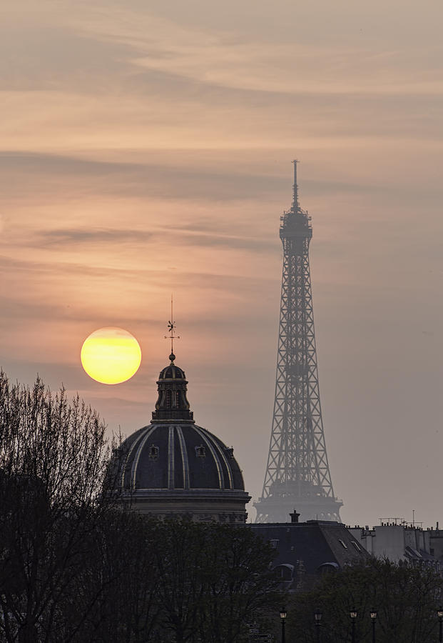 Paris Photograph - Paris Sunset I by Mark Harrington