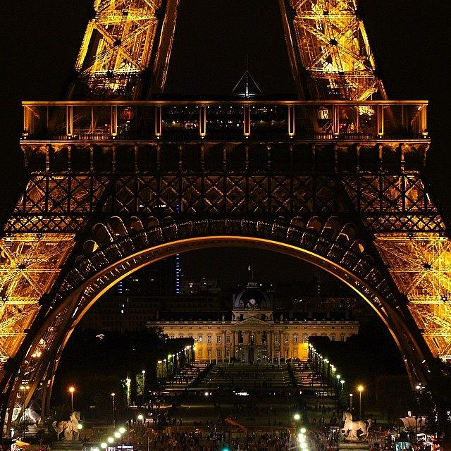 Urban Photograph - #paris #toureiffel #france #night by Luisa Azzolini