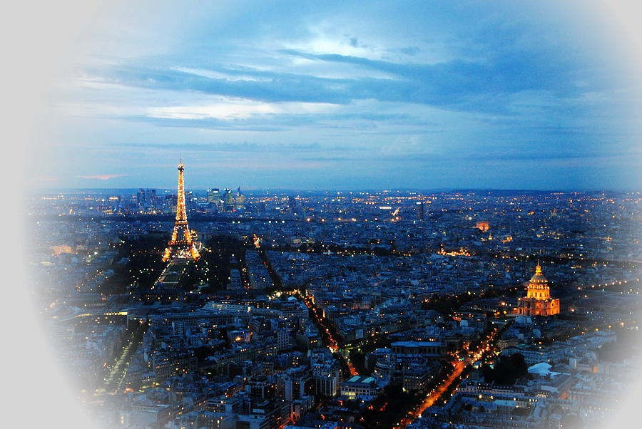 Montparnasse Photograph - Paris View From Tour Montparnasse by Jacqueline M Lewis