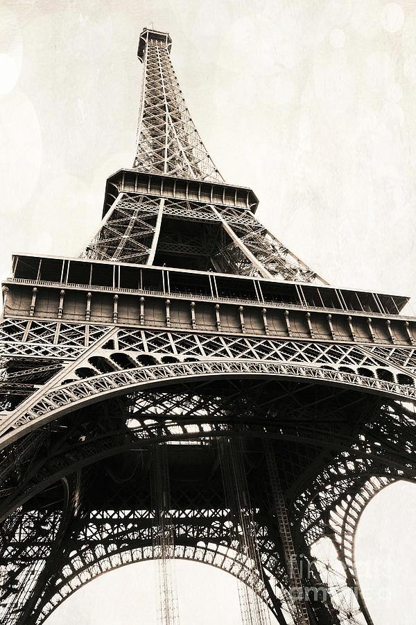 paris vintage sepia eiffel tower architecture eiffel