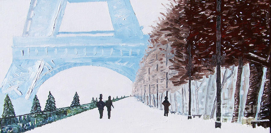 Paris Painting - Paris Wintertime by Kevin Croitz