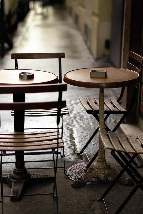 Parisian Cafe Table Photograph by Halbergman