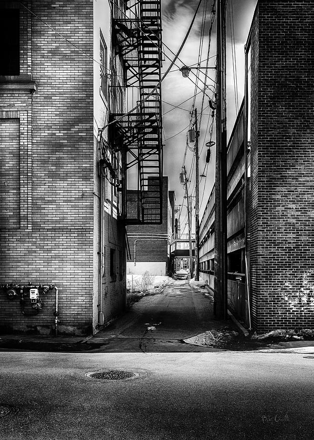 Alley Photograph - Park Alley Sunset by Bob Orsillo