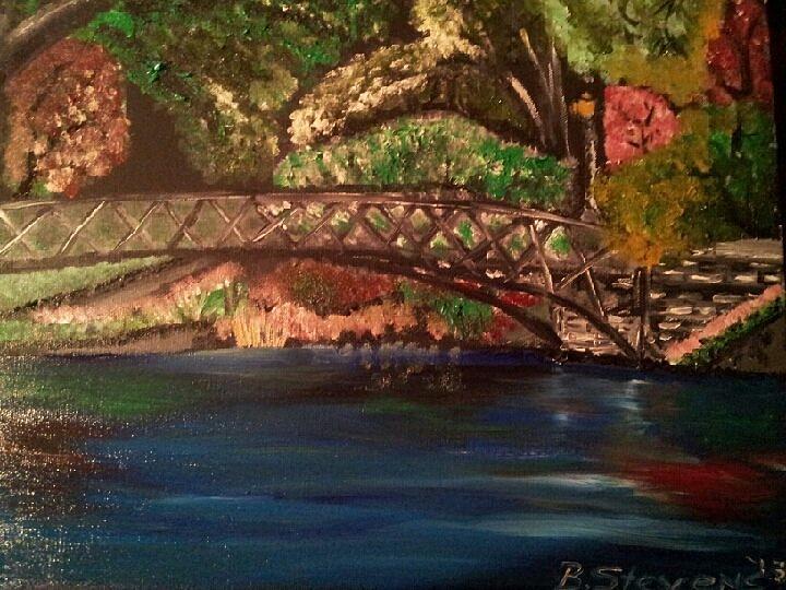Park Painting - Park by Barbara Judkins-Stevens