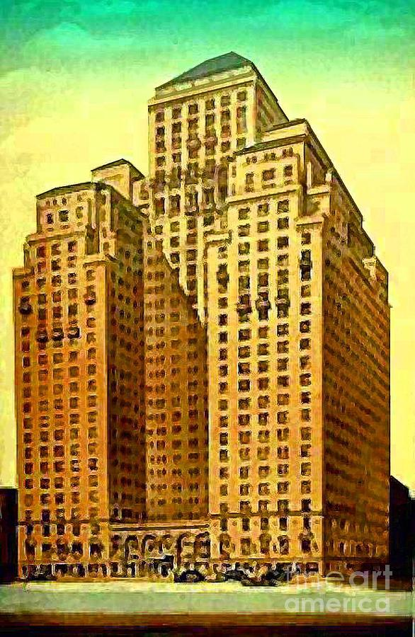 Park Central Hotel Painting - Park Central Hotel In New York City by Dwight Goss