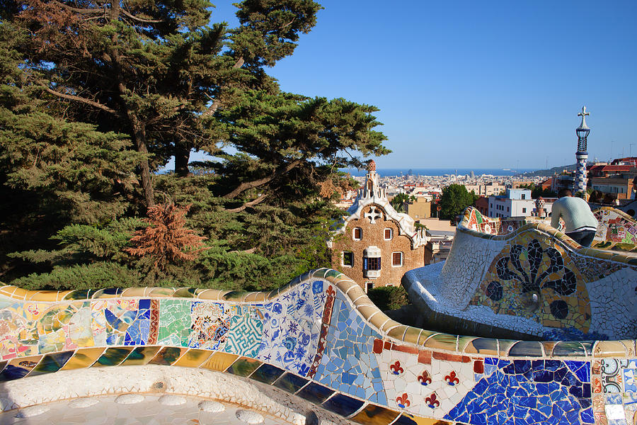 Park Photograph - Park Guell In Barcelona by Artur Bogacki
