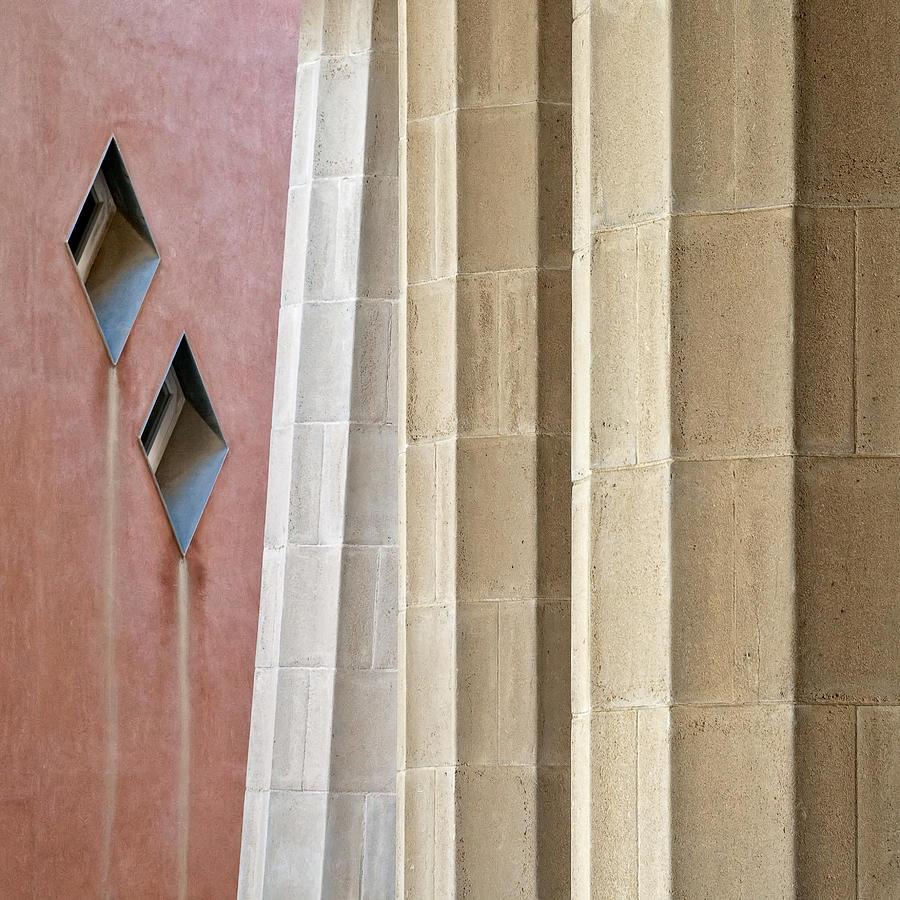 Park Guell Photograph - Park Guell Pillars by Dave Bowman