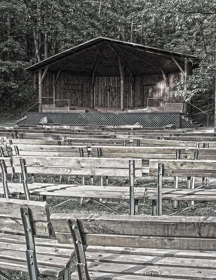 Park Digital Art - Park Pavilion Stage by Phil Perkins