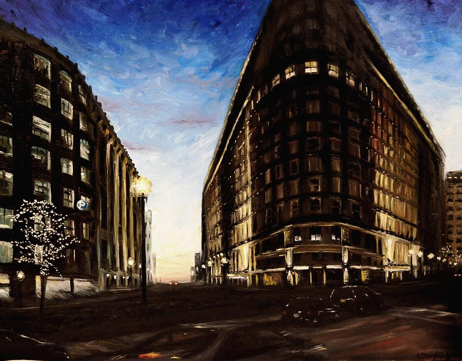 Boston Painting - Park Plaza Boston by Karen Strangfeld