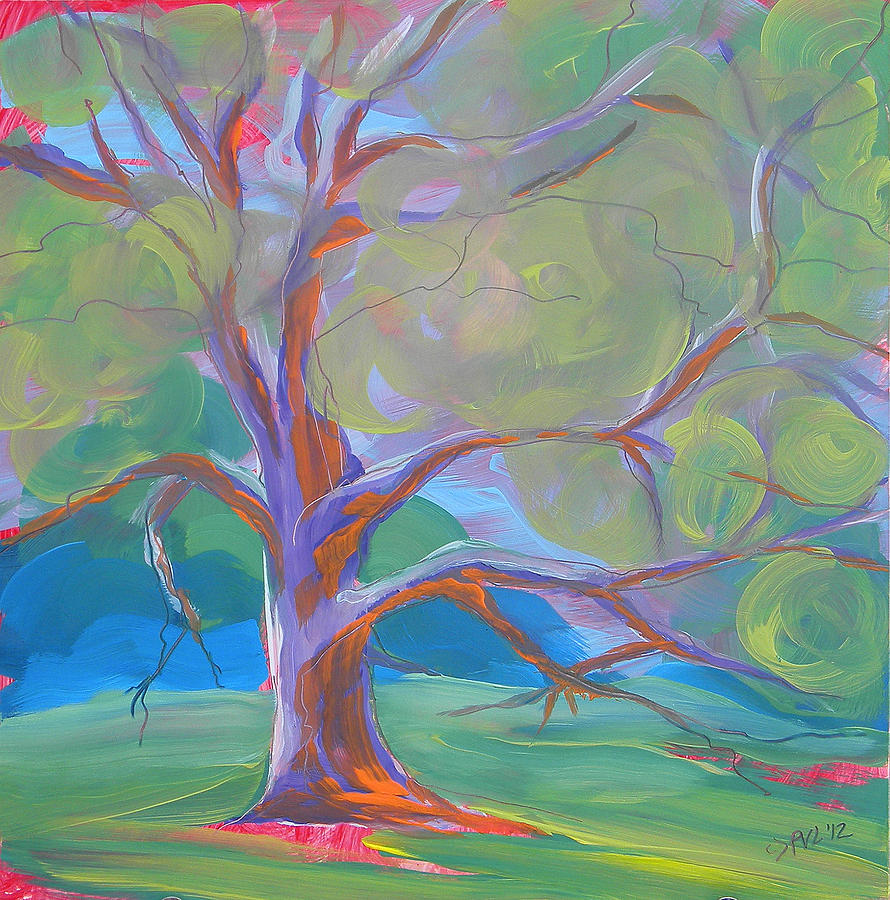 Park Trees 8 Painting by Pam Van Londen