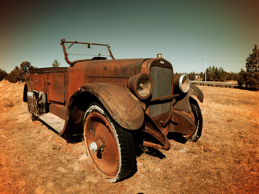 Aged Photograph - Parked 4 by Leland D Howard