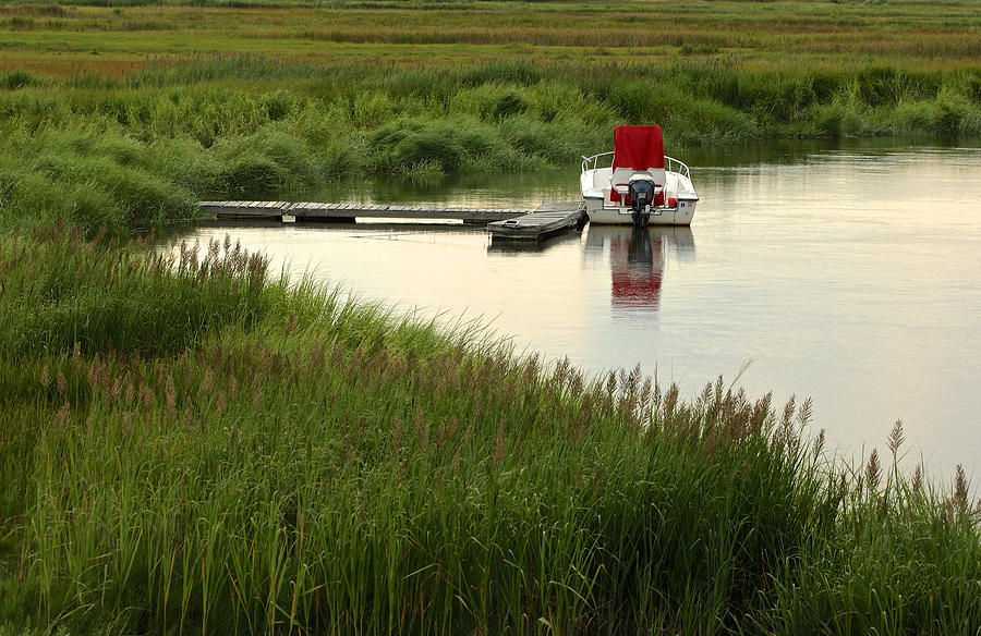 Boats/parker River Water Nautical Photograph - Parker River Boat by Gail Maloney