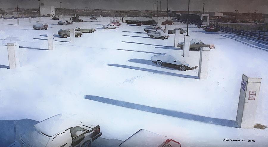 Fargo Digital Art - Parking  @ Fargo by Joel and Ethan Coen by Gabriel T Toro