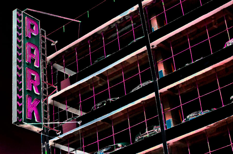 Parking garage in new york city painting by lanjee chee for New york city parking garage