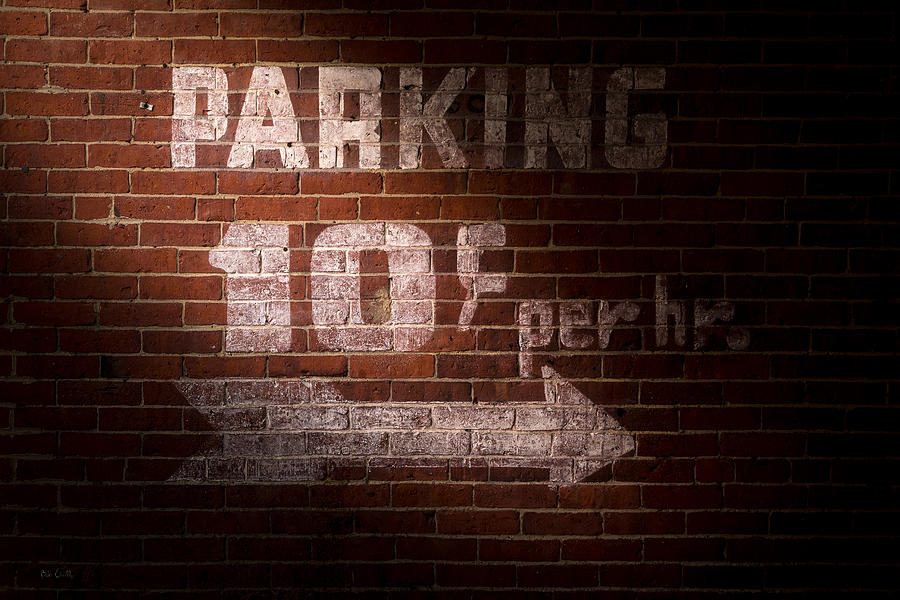 Sign Photograph - Parking Ten Cents by Bob Orsillo