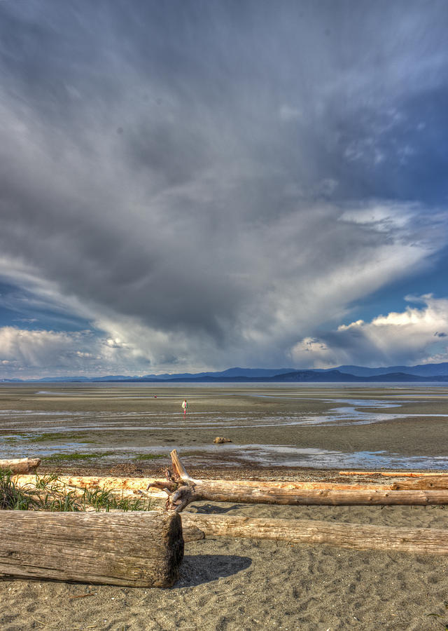 Sand Photograph - Parksville Beach - Low Tide by Randy Hall