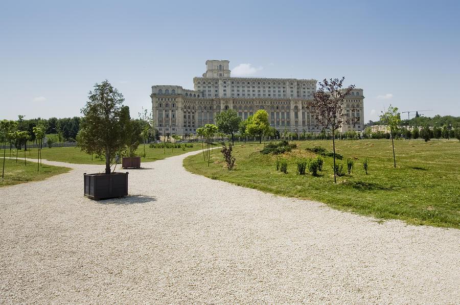 Park Photograph - Parliament At Summer Bucharest by Ioan Panaite
