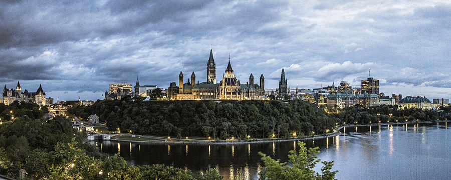 Parliament Hill At Night by Levin Rodriguez