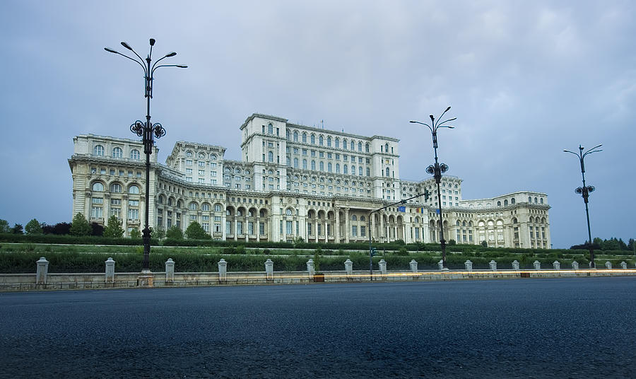 Administrative Photograph - Parliament In Bucharest by Ioan Panaite