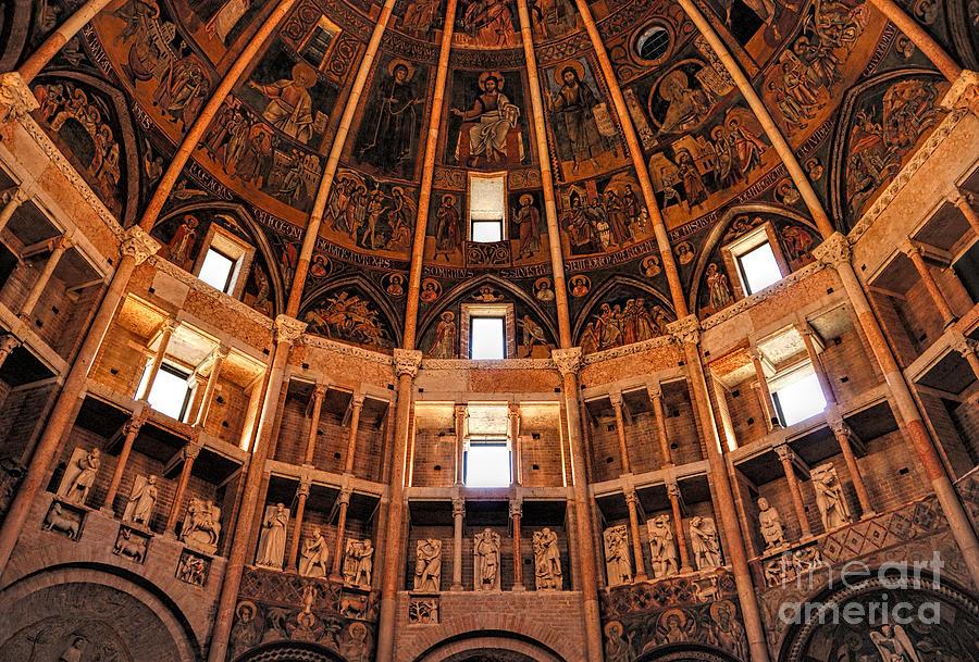 Parma Photograph - Parma Baptistery by Nigel Fletcher-Jones