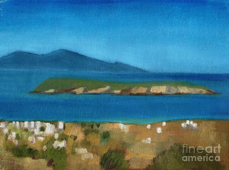 Greece Painting - Paros Plain Air by Kostas Koutsoukanidis