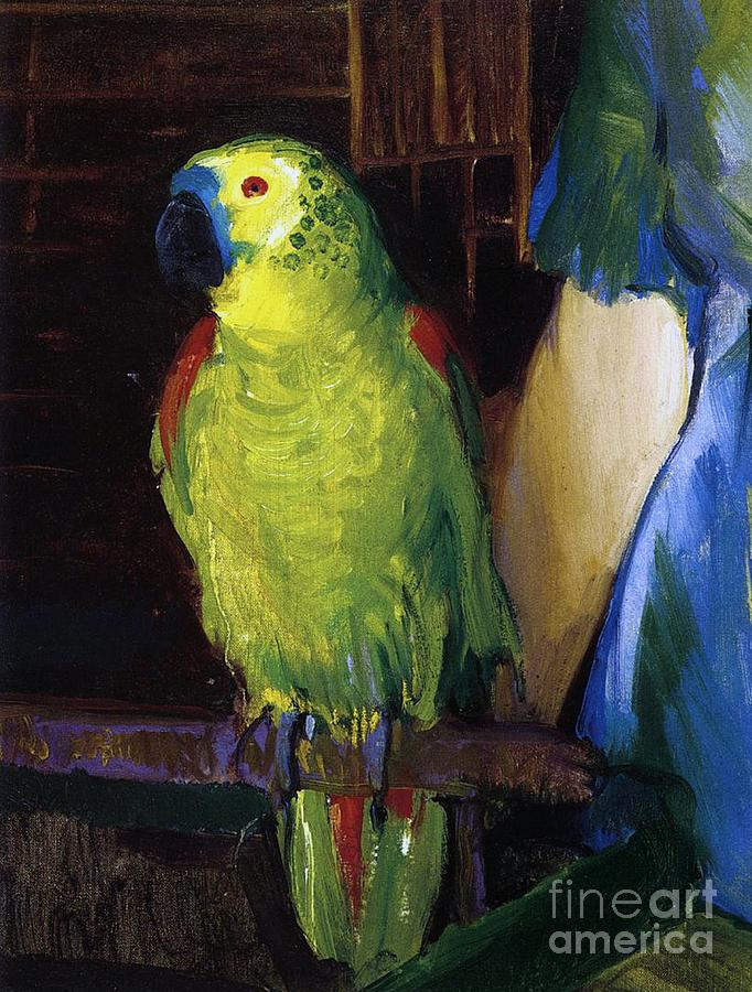 Parrot Painting by George Wesley Bellows
