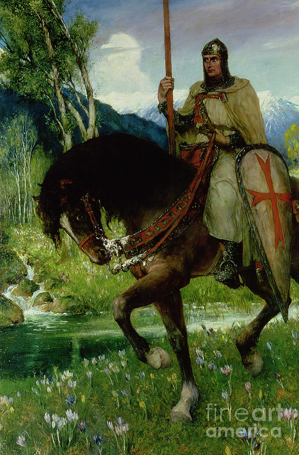 Knight Painting - Parsifal In Quest Of The Holy Grail by Ferdinand Leeke