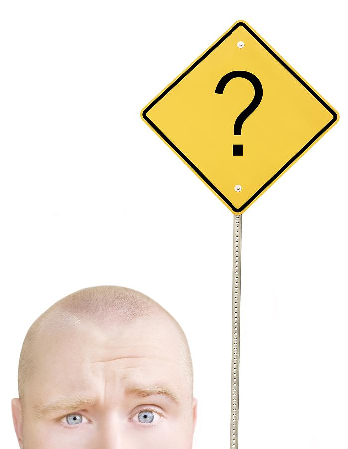 30-35 Years Photograph - Part Of A Mans Head And A Sign by Chris and Kate Knorr