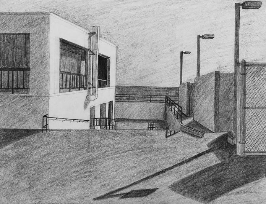 Part Of School Building Drawing by Kume Bryant