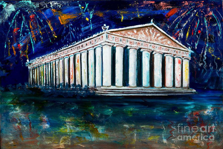 Nashville Painting - Parthenon - Nashville by Olga Alexeeva