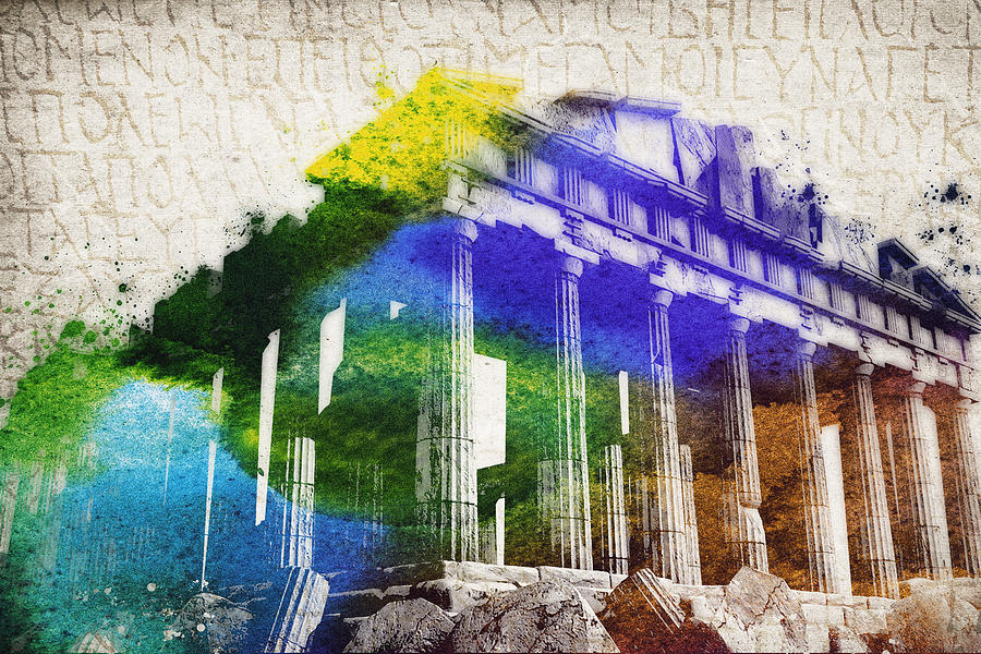 Parthenon Digital Art - Parthenon by Aged Pixel