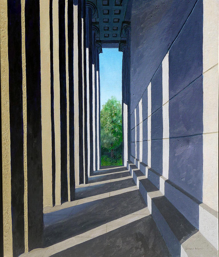 Nashville Painting - Parthenon Shadows by Dillard Adams