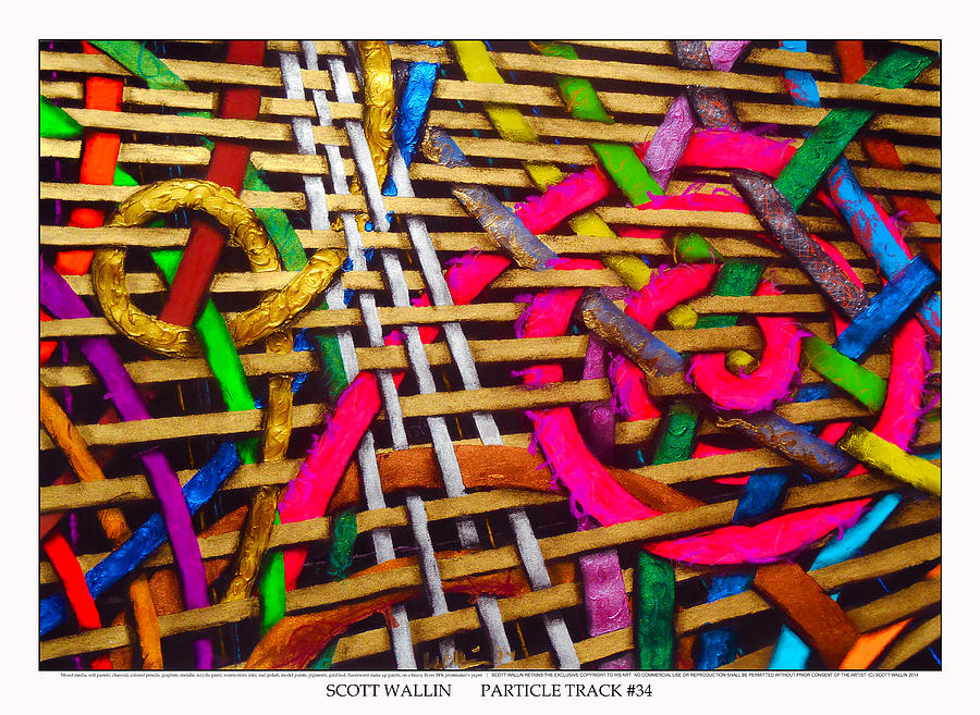 Contemporary Painting - Particle Track Thirty-four by Scott Wallin