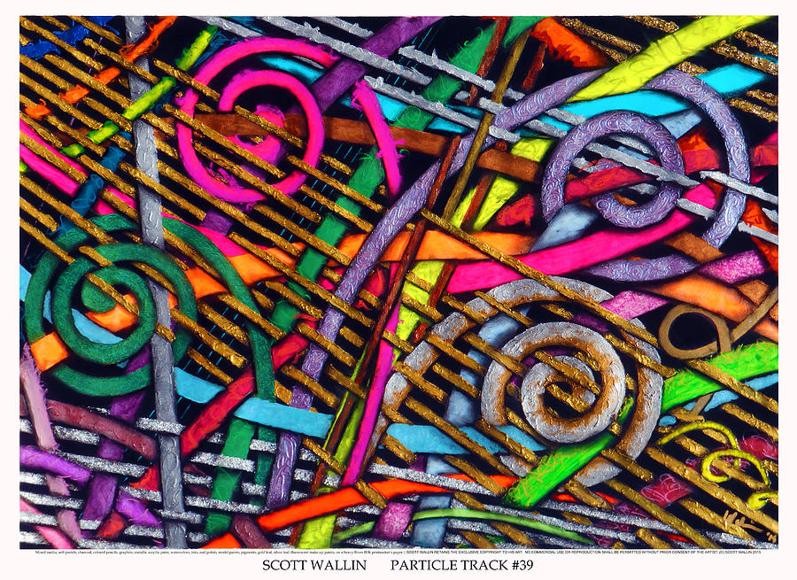 Abstract Painting - Particle Track Thirty-Nine by Scott Wallin