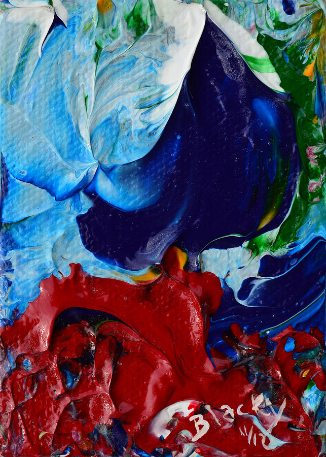 Contemporary Painting - Parting The Red Sea by Donna Blackhall
