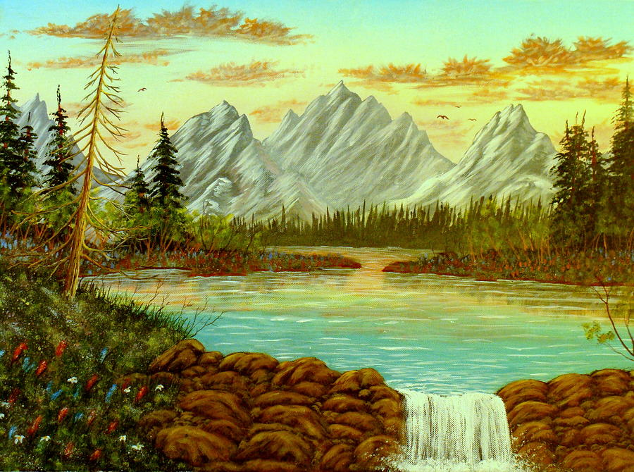 Landscape Painting - Parting Waters by David Bentley