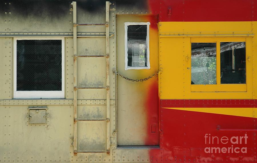 Train Photograph - Partly Painted by Dan Holm