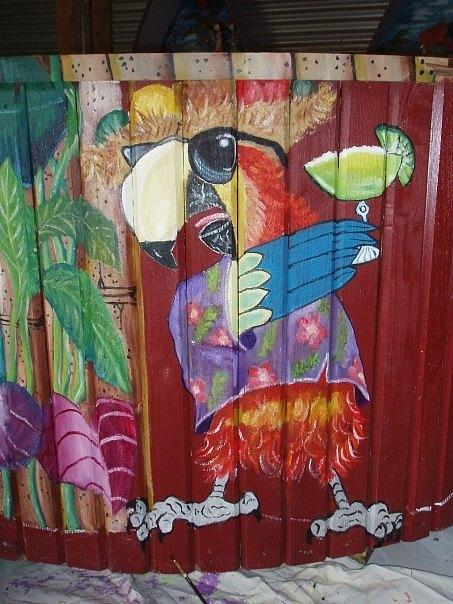 Party Parrot Painting - Party Parrot by Shirley Kelly