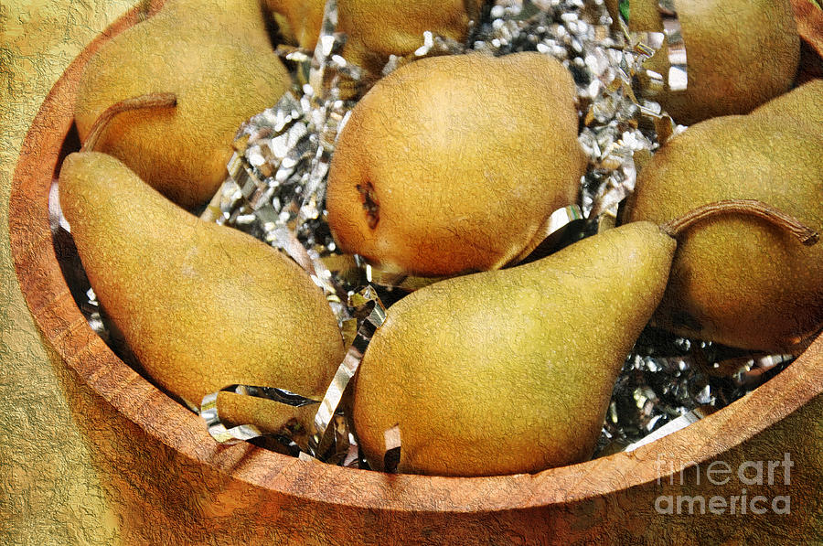 Pear Photograph - Party Pears by Andee Design