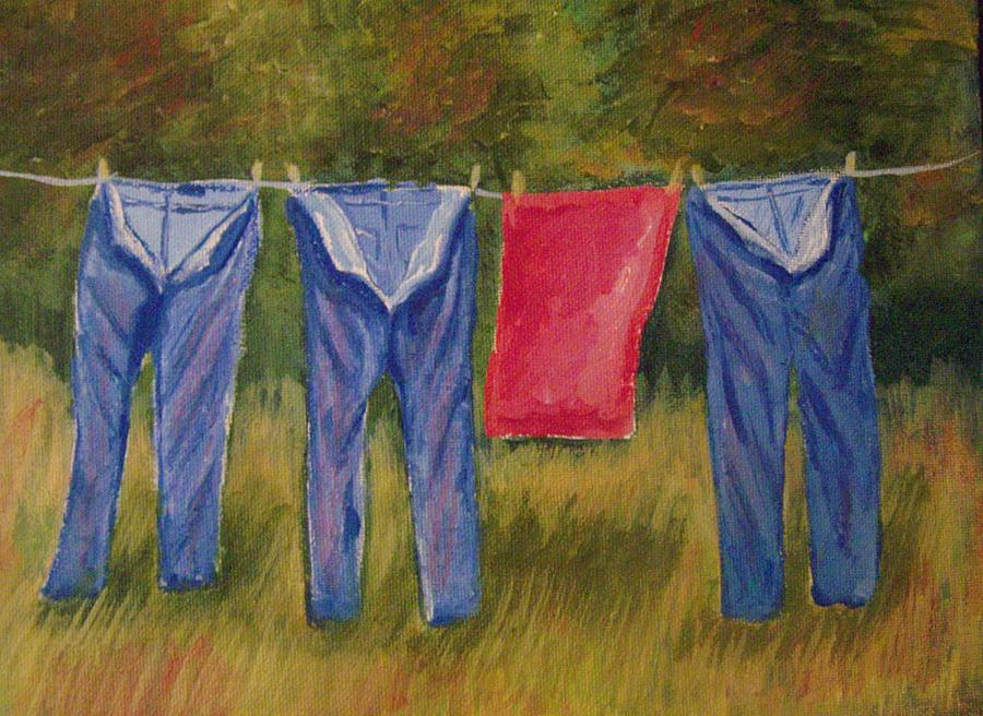 Americana Painting - Pas Trousers by Belinda Lawson