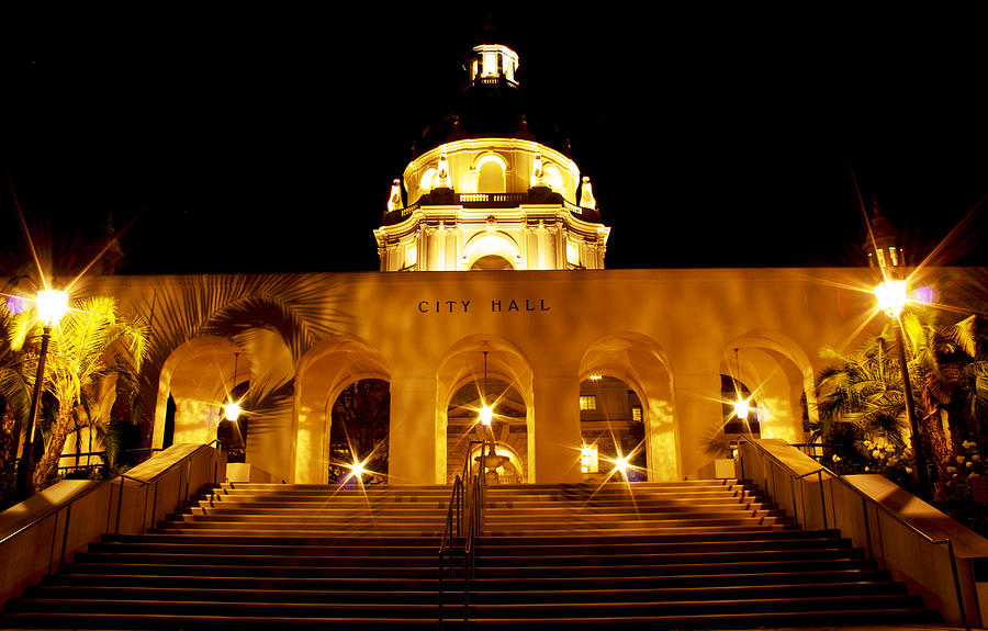 City Hall Photograph - Pasadena City Hall by Rollie Robles