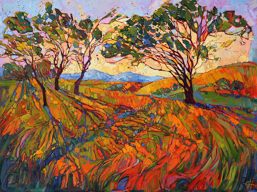 Paso mosaic painting by erin hanson Fine art america
