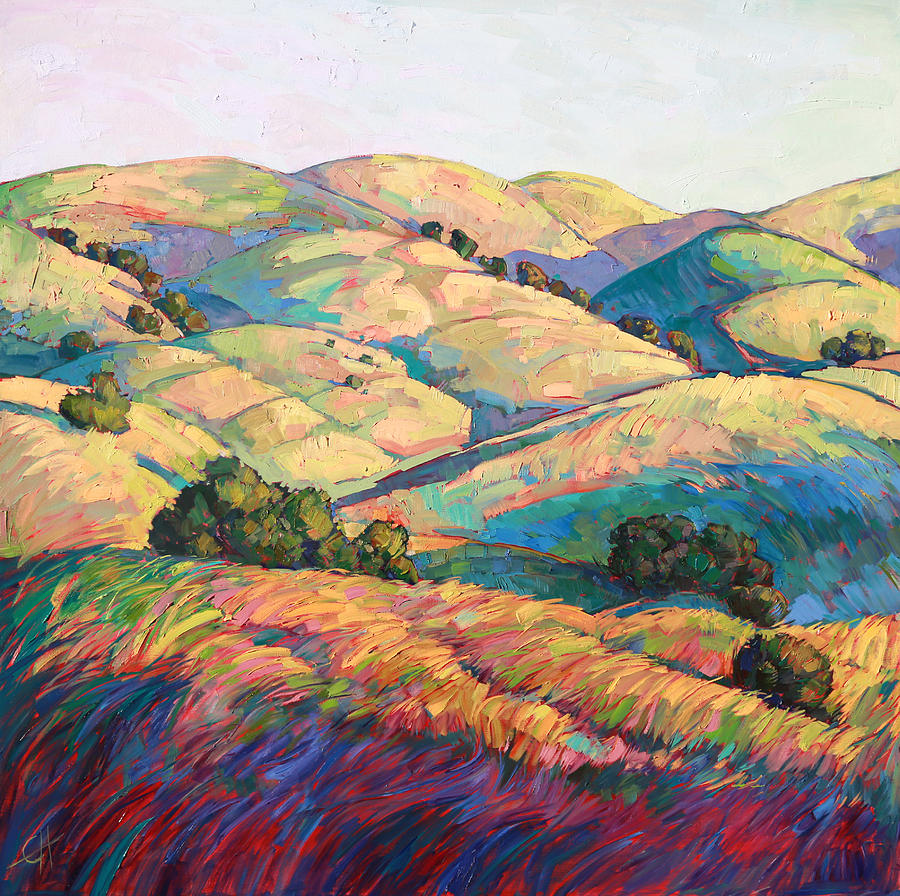 Paso Robles Painting - Pasoscapes Diptych Left Panel by Erin Hanson
