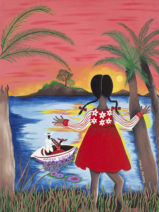 Black Artist Painting - Pass The Path by Patricia Sabree