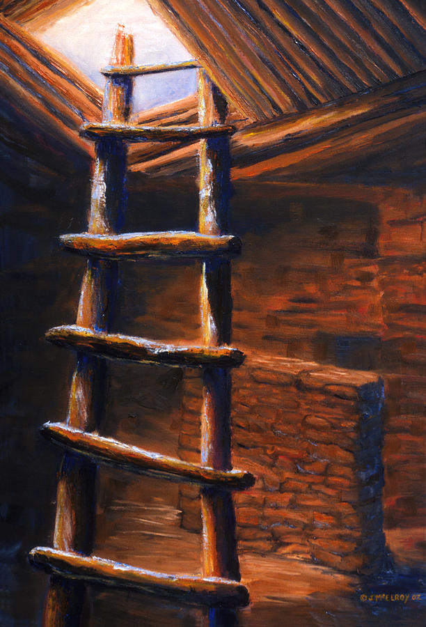 Anasazi Painting - Passage by Jerry McElroy