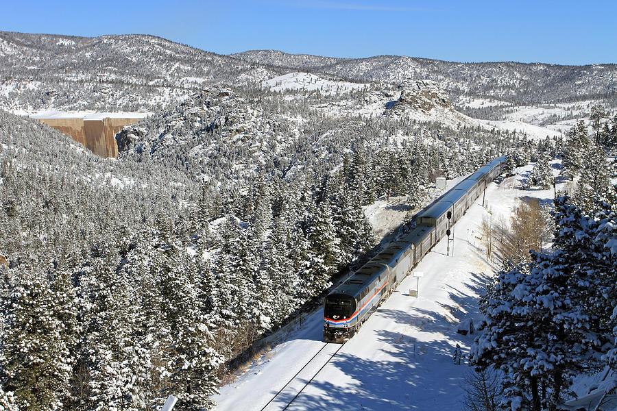 Passenger Train Leaving Crescent Photograph by Mike Danneman