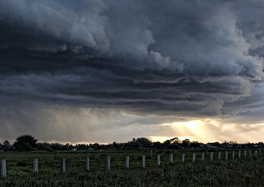 Storm Photograph - Passing Storm by Heather Provan